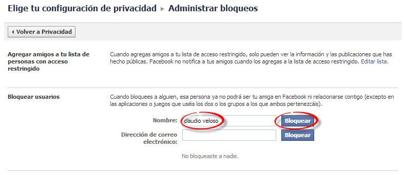 Como bloquear y desbloquear un amigo en Facebook