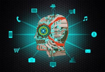 Information Technology Concept - Homo connectus