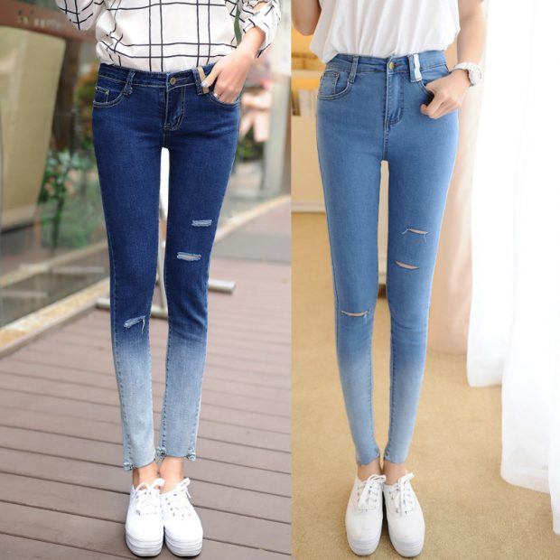 jeans doble color